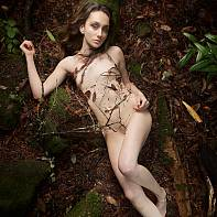 San Francisco Fine Art Nude Photography Paul Pardue 20141214_134942_019141 Brunette, Dirt, Flash, Los Gatos, Outdoor, Rocks, Santa Cruz Mountains, Softbox, Strobe, Strobist, Synchro Sun, Trees