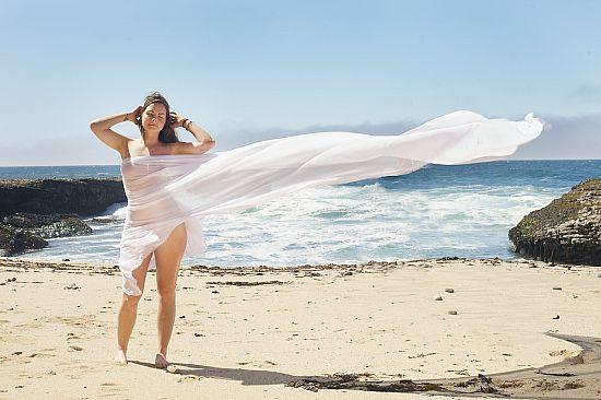 Blonde santa cruz ca bikini model